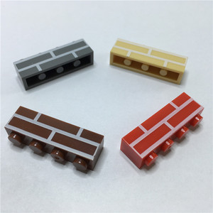 Image 3 - עיר טירת DIY 100 יחידות\שקית 1X4 בית קיר לבנים MOC בניין בלוקים יצירתיים חלקים צעצועים לילדים