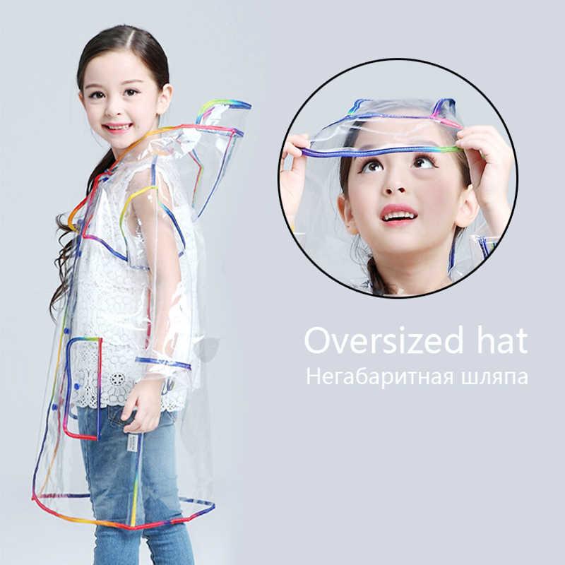 Yuding прозрачный плащ для мальчиков дождевик с капюшоном на открытом воздухе прозрачный водонепроницаемый детский дождевики для маленьких девочек дождевик