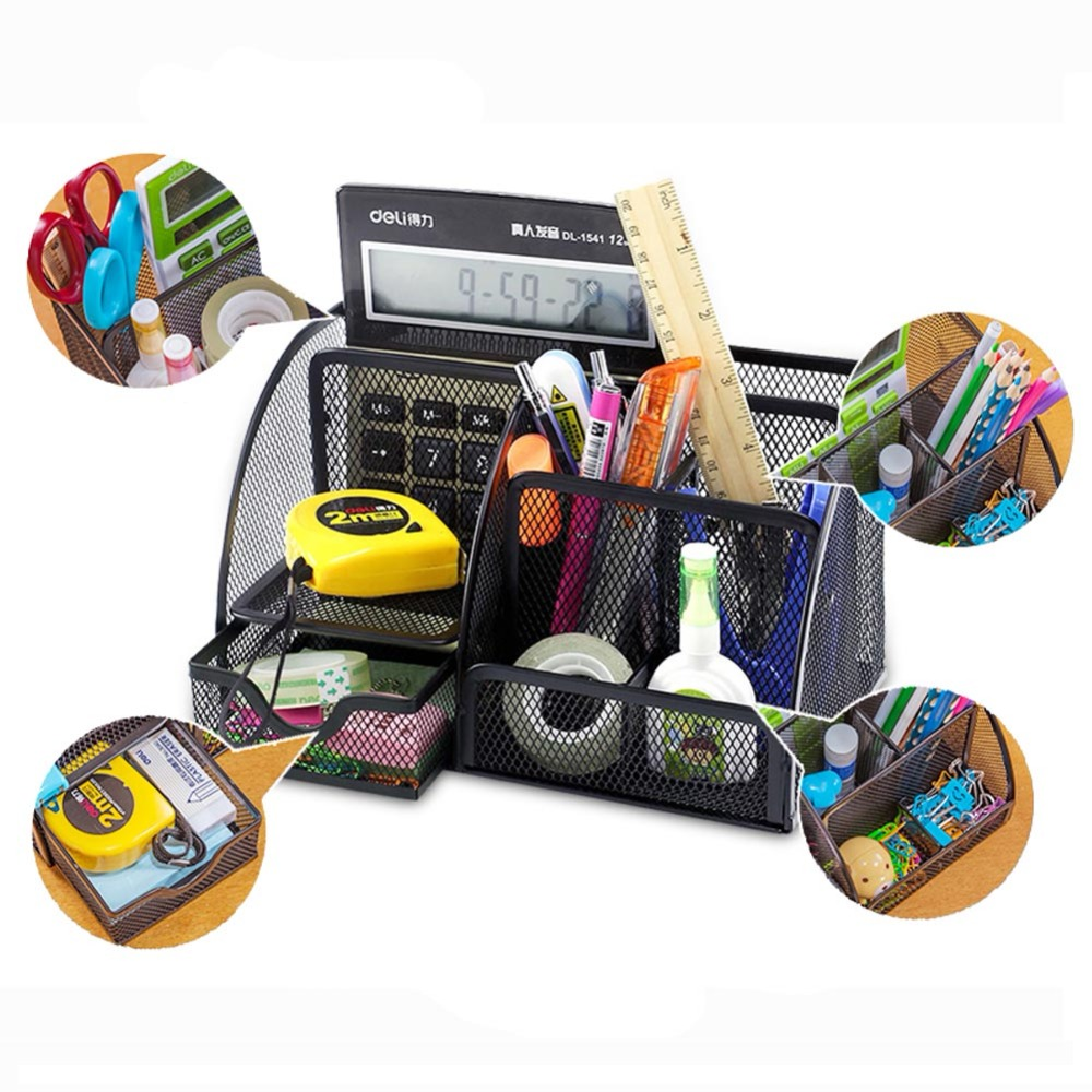 Desk Organizer Office Stationery Container 5