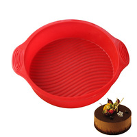 Round Shape 3D Silicone Cake Mold Baking Tools Home Kitchen Dining Bar Bakeware Stencil Tray Baking