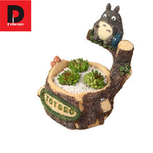 Dehomy Totoro Resin Flower Pot Succulent Plants Pot Garden Bonsai Planter Micro Landscape Flowerpot Garden Decoration Planter