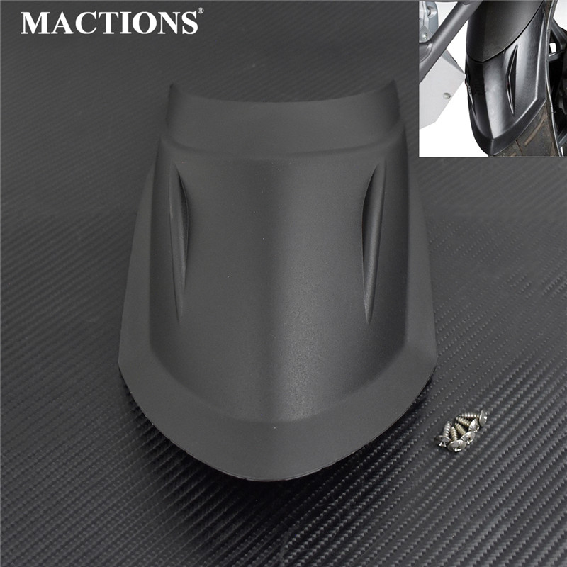 Black Motorcycle Front Mud Guard Fender Rear Flare Extender Extension For BMW R 1200 GS LC R 1200 GS LC Adventure 2013-2016