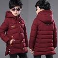 2016 осень мальчики вниз пальто ребенок куртка зимняя одежда мальчиков толстый хлопок проложенный 12-15 лет дети долго капюшоном вниз пальто