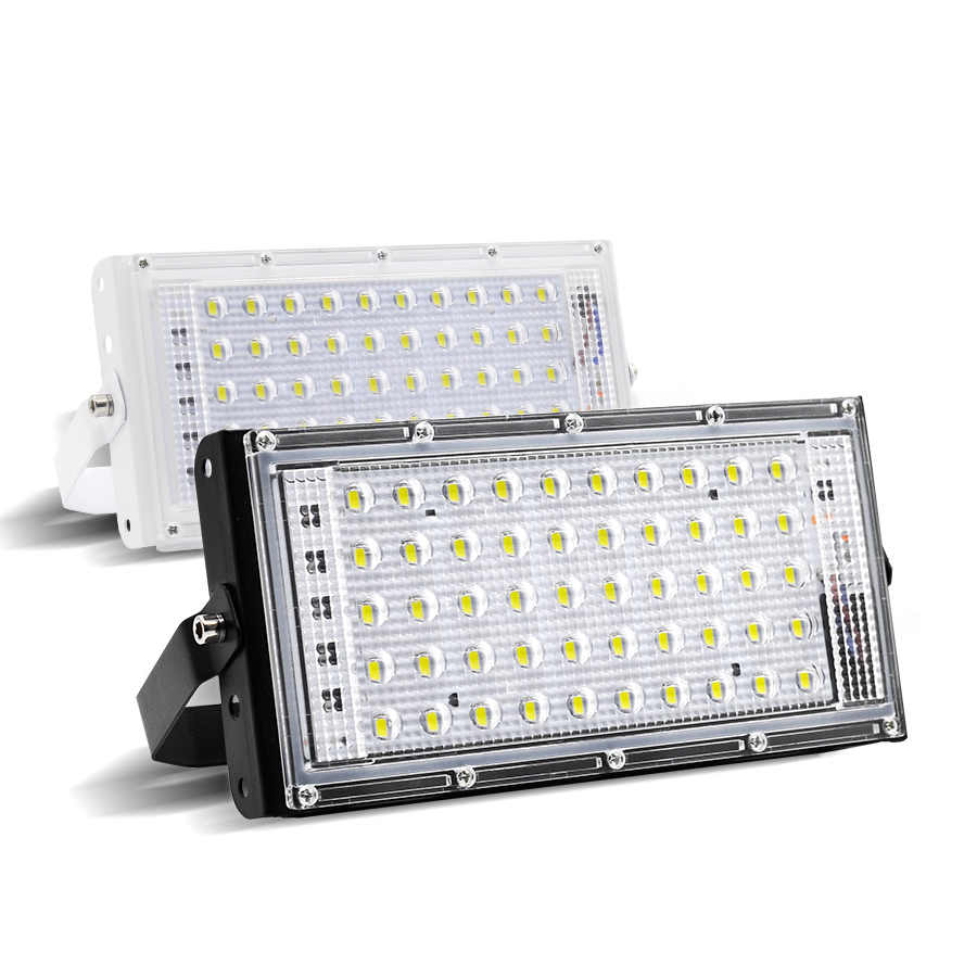 LED Flood Light 220V Outdoor IP66 Waterproof 50W Perfect Power RGB Floodlights LED Multicolour Spotlights SearchLight