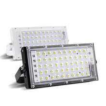 LED Flood Light 220V Outdoor IP66 Waterproof 50W Perfect Power RGB Floodlights Multicolour Spotlights SearchLight