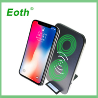 Qi Wireless Charger For IPhone X 8 Plus ROCK Fast Charging Docking Wireless Charger For Samsung