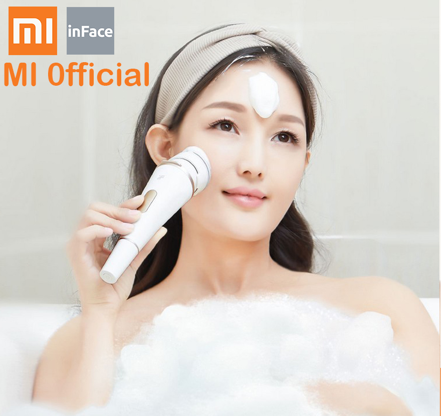 xiaomi inface Face Cleaning Mini Electric Massage Brush Washing Machine Waterproof Silicone Cleansing Tools Soft Deep Cleaning-in Smart Remote Control from Consumer Electronics    1