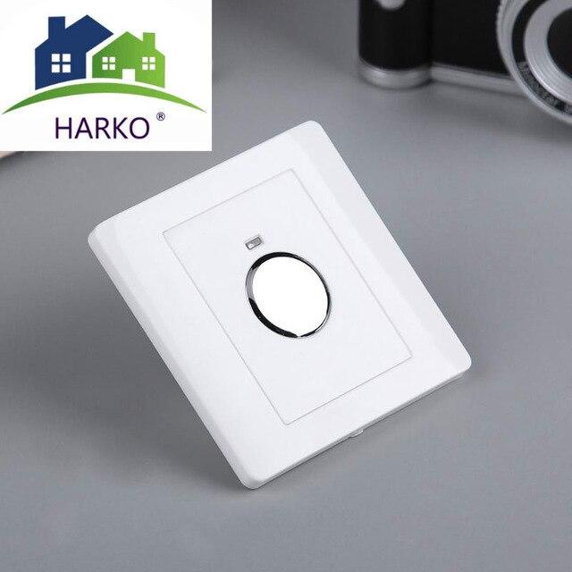 220V Energiebesparing Muur Touch Sensor Switch Light Touch Switch Verstelbare Lichtregeling Voor Corridor Trap Garage Wandmontage