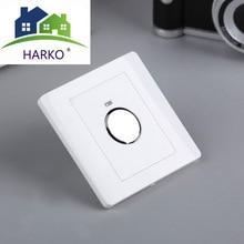 Interruptor táctil de pared con Sensor táctil de ahorro de energía, 220V, Control de luz ajustable para pasillo, escaleras, garaje, montaje en pared