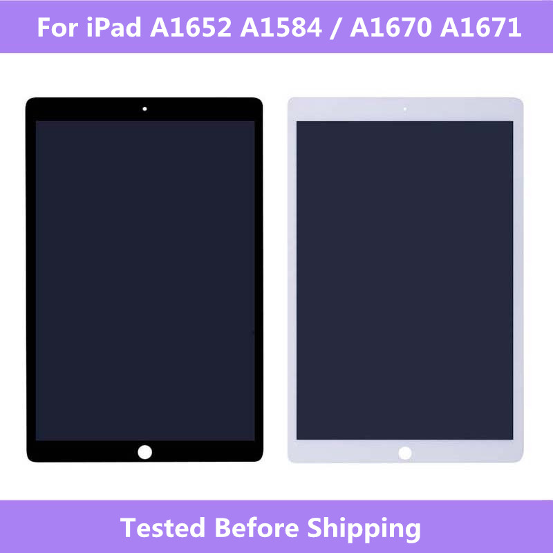 "LCD Full Screen For iPad Pro 12.9""A1652 A1584 A1670 A1671 LCD display+Touch screen Assembly For iPad Pro 12.9 Tablet Screen