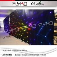 Светодиодный Звездный фон стены Звездный СВЕТОДИОДНЫЙ занавес 3х6 м stitchable 30 комплектов программы полноцветный фантазия покрывало со светод