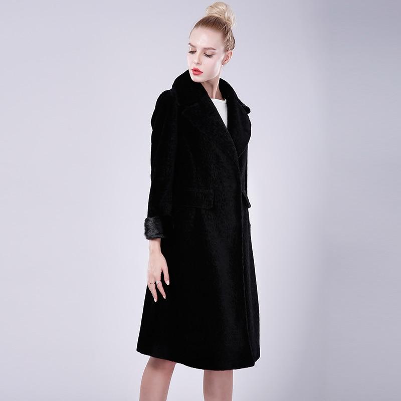 Réel De Manteaux Laine Noir Mouton Femmes Vison Peau Moutons Gilet Fourrure Russe Avec Vestes 100 En Naturel Femelle Manteau qXdx7XH