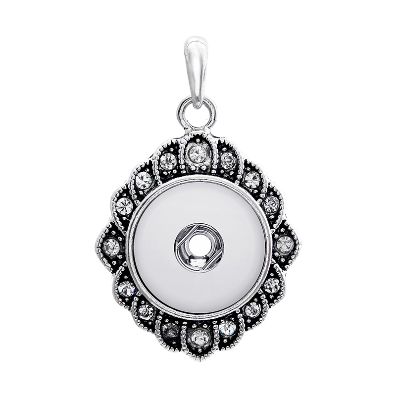 abcdc8d2f4d0 2 colores 2016 18mm metal xinnver snap button joyería cristal colgante  collar para mujer hombres Vintage accesorios ZG019