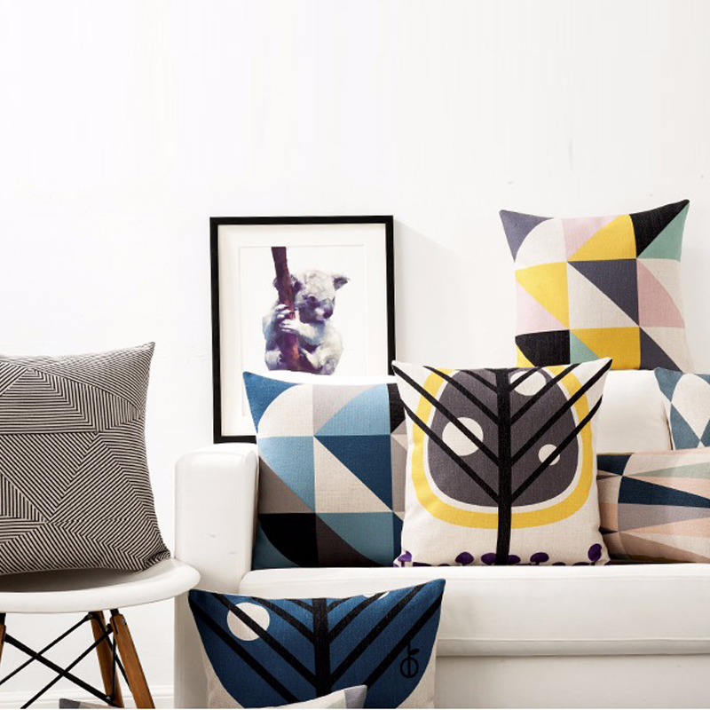 Scandinavian Style Seat Cushion Pillow Cover Modern Minimalist Cushions For Sofas Cozy Geometric Decorativethrow Pillows In From Home Garden