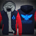 Adult Men Women Jacket  Luminous Assassin's Creed Thicken Hoodie Sweatshirts Zipper Coat USA size