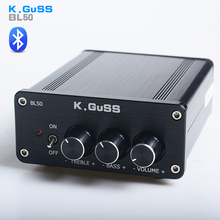 NOUVEAU K. GuSS BL50 Classe D 2.0 HiFi TPA3116 LM1036 Tone Numérique Bluetooth audio amplificateur audio amplificador 2*50 W