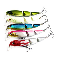 цена на Three-section fish Minnow lure  bait hard bait plastic fish 11cm 16g three hook fishing bait