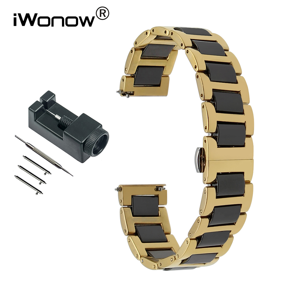 Ceramic + Stainless Steel Watchband for Longines Master Conquest Flagship Quick Release Band Watch Strap 12 14 16 18 20 22mm ceramic stainless steel watch band 14 16 18 20 22mm for orient butterfly buckle strap quick release wrist belt bracelet tool