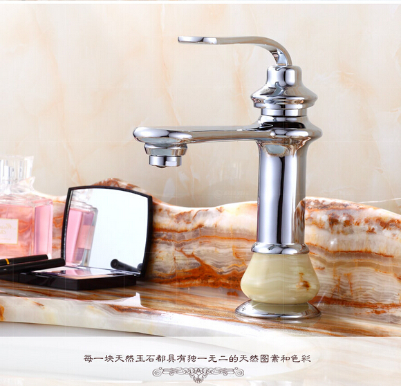 Chrome jade and brass material gold Finish brass Hot and Cold single lever bathroom sink basin bathroom faucet square international award design brass single lever bathroom basin faucet bathroom sink faucet bathroom faucet