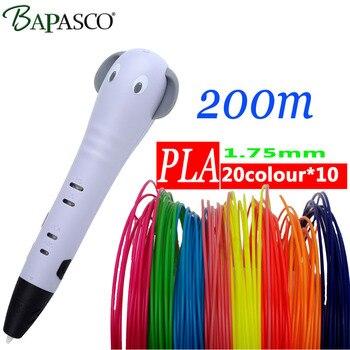BAPASCO новые 3D рисунок пером ручка мультфильм 3D рисунок ручки творческие детские игрушки Образование подарок рисунок карандашом бесплатная ...