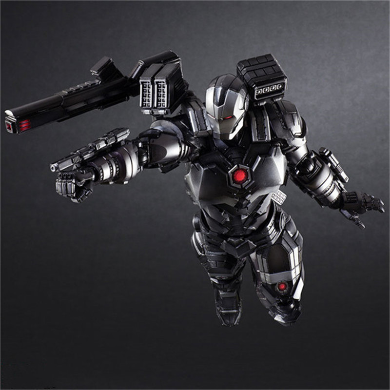 Luxury Super Heroes Iron Man Action Figure Toys Movie Grey Iron Man with Weapon Variable Figuras Dolls Brinquedos Cosplay Gift 27cm  (3)