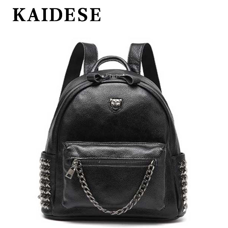 KAIDESE fashion brand ladies backpack 2018 new college breeze casual bag multi function Travel Shoulder Bag leather backpack цена 2017