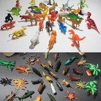 72ピース混合ロットミニ動物の世界のおもちゃモデル海土地cretures昆虫恐竜子供教育コレクションセット