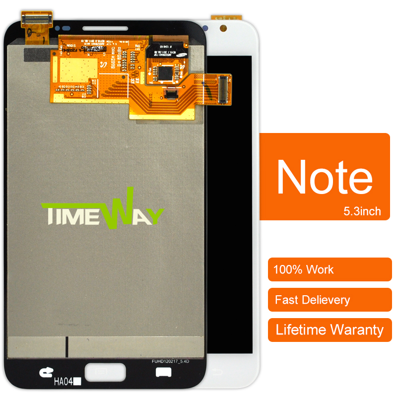 ФОТО alibaba china Mobile Phone Lcd Dhl 10pcs 100% Original New Lcd Display+touch Screen For Samsung Note N7000 I9220
