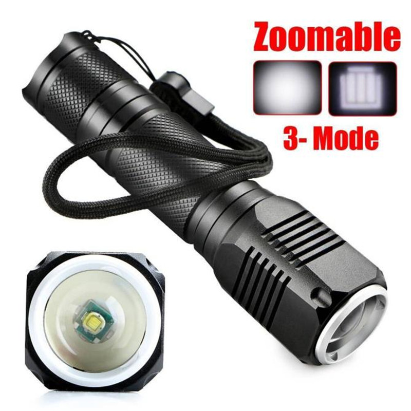 4000LM Zoomable XML Q5 LED Light 18650 Flashlight Cycling Bicycle Bike Hand Front Torch  ...