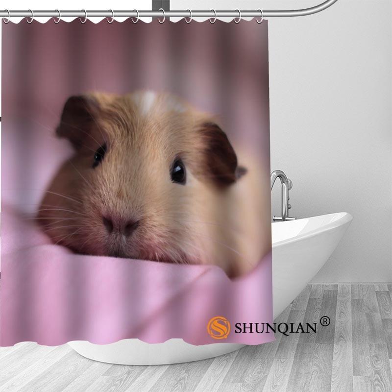 py008 hot custom guinea pig shower curtains polyester bathroom curtains with hook bath curtain bathroom decor