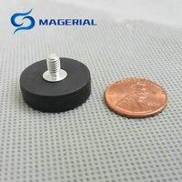 4pcs Mounting Magnetic Disc Dia 22mm LED Light Holding Spotlight Holder Male Thread NdFeB Magnet Strong