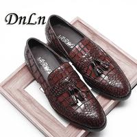 Men Genuine Leather Flat Wedding   Shoes   Mens Burgundy Black Business   Formal     Shoes   Gentleman Party Tassel   Shoes   20D50