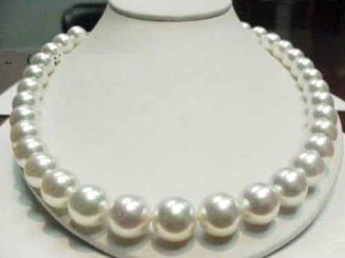 Vente chaude livraison gratuite ****** 11mm 17 pouces AAAA + collier de perles de mer du sud blanc naturel