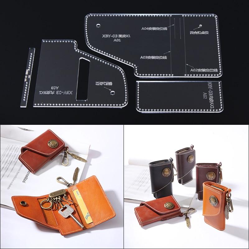 draft-8 Leather Goods Unisex Key Fob Strong Grenade Brass Hook+Stud Logo