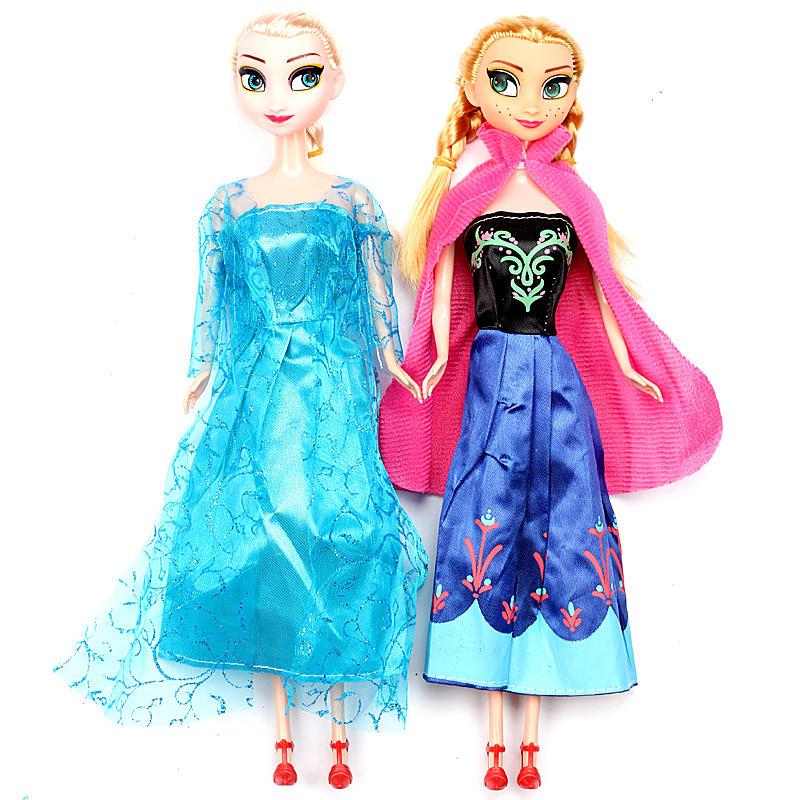 Poupée princesse de bande dessinée congelée Anna Elsa poupées reine des neiges enfants filles bébé jouets anniversaire cadeaux de noël jouets pour enfants