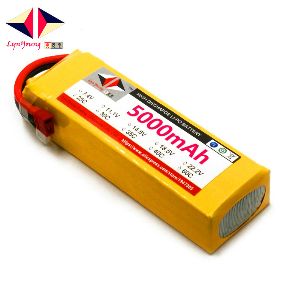 LYNYOUNG 5S Rc Lipo Battery 18.5V 40C 5000mAh FOR Drone Airplane Helicopter Car boat lynyoung battery lipo 4s 3000mah 14 8v 35c for rc bike drone boat plane car truck helicopter