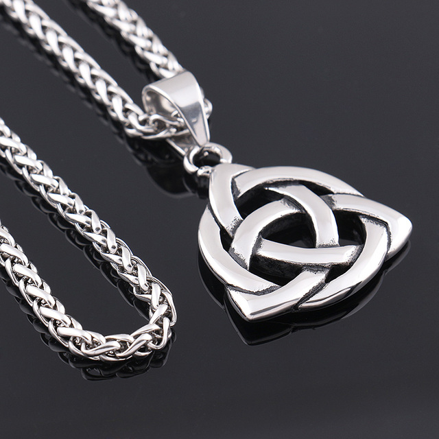Stainless steel celtic knot irish lucky love pendant necklace stainless steel celtic knot irish lucky love pendant necklace mens pendant unisex chain 50 mozeypictures Gallery