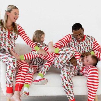 Familia Navidad Pijamas De Parejas Juego De Ropa 2018 Madre Padre