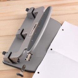 Perforadora de Metal resistente con 3 agujeros, Agujero Estándar de 7mm, 35 hojas de capacidad, herramientas de encuadernación para oficina, suministros de papelería Deli 0116