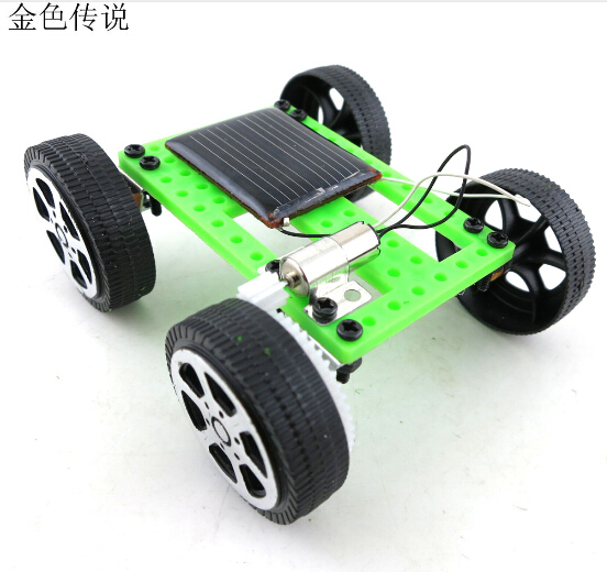 F17914 6 DIY Solar Toy Car Assemble Solar Vehicle Mini Solar Energy Powdered Toys Racer Child