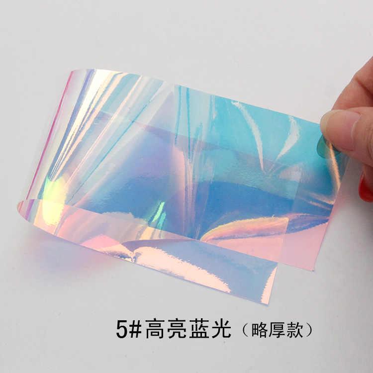 hot 20cm/sheet nail mirror sticker fantasy irregular broken glass sticker  foil nail Aurora glass paper nail art tool