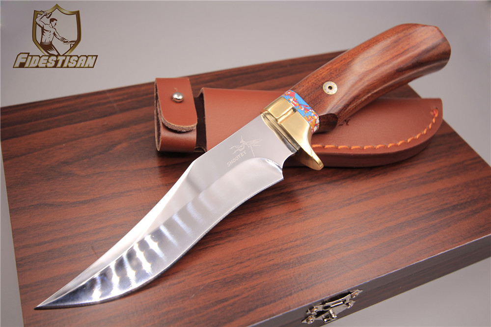 fixed blade straight knife high-end custom small straight knife stainless 7Cr17 steel gift box leather case sharp and delicate hx small mercenary survival hunting knife d2 steel blade fixed blade knife straight camping knives multi tactical hand tools