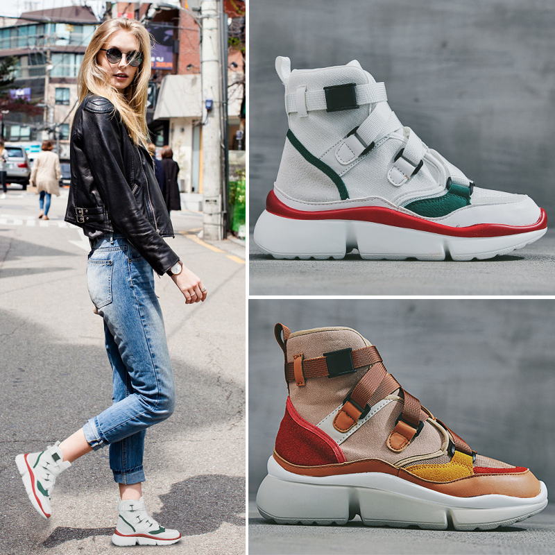 CAMTOO High Top Women Sneakers 2019 Spring Canvas Casual Shoes  Luxury Shoes Women Designers Non-Slip Flat Women's Sneaker