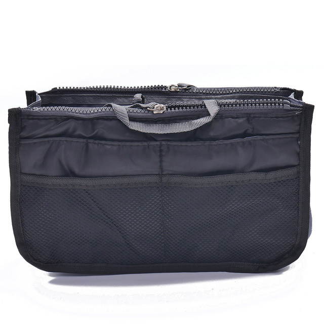 ISKYBOB Portable New Women's Fashion Bag in Bags Cosmetic Storage Organizer Makeup Casual Travel Handbag 14 Colors Cosmetic Bags