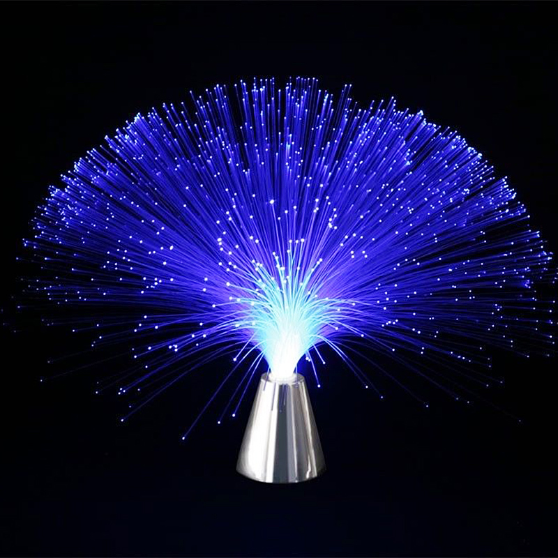 1 Piece Multicolor Changing LED Fiber Nightlight Lamp Small Night Light Colorful Fiber Optic Lamp P20