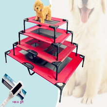 2017 New Assembled Breathable Pet Steel Frame Raised Dog Bed  Summer Marching Beds Anti-mite, Removable Washable