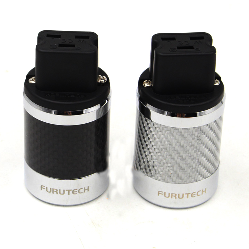 1pcs Hi End Carbon Fiber Rhodium Plated 20A IEC Female power Plug Connector AudioPhile HIFI-in Electrical Plug from Consumer Electronics    1