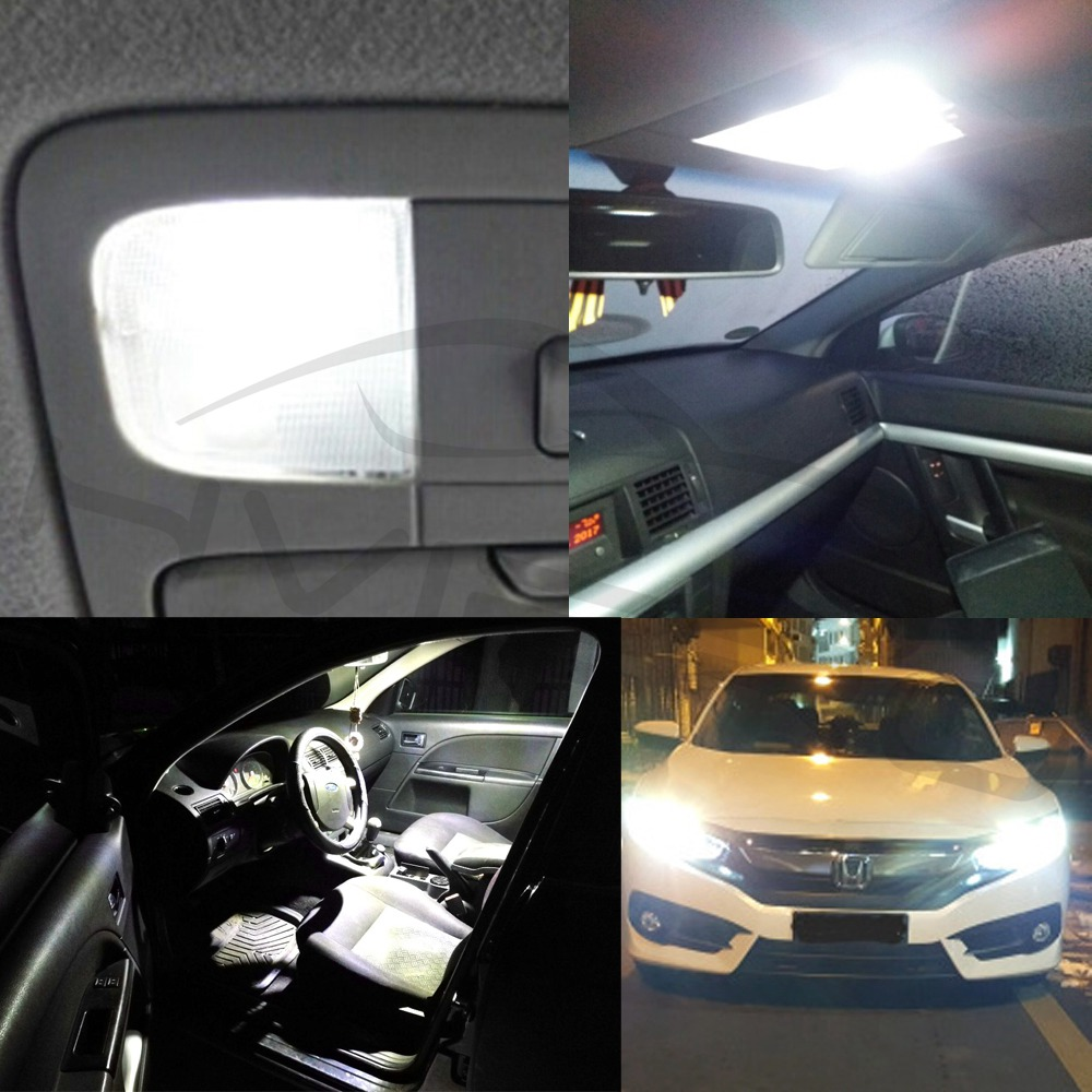 Hviero T11 Ba9s T4w 5050 9 Smd White Car Led Marker Lamps Auto Led Trunk Light Festoon Dome Door Bulb Dashboard Lamp Gauge light Dc 12v