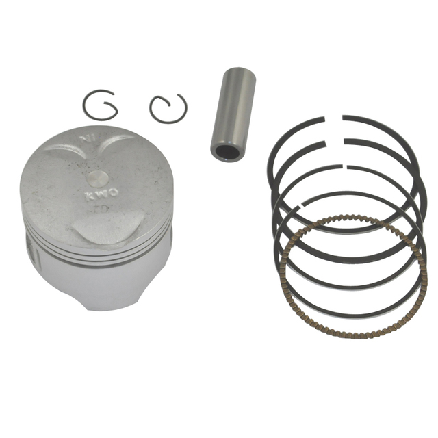 Motorcycle Aluminium Engine Parts Cylinder Piston Kit with Rings Pin Set for Steed 400 Steed 400 KWO KWO400 STD Bore Size 64mm