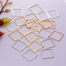 1pc Hot Selling Fashion gold /silver /rhodium/gunblack  hollow square copper  for women girl  diy jewelry accessories making